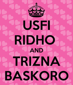 Poster: USFI RIDHO  AND TRIZNA BASKORO