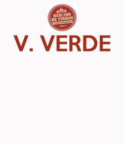 Poster: V. VERDE