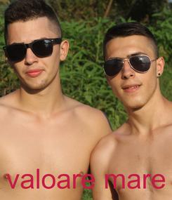 Poster:     valoare mare