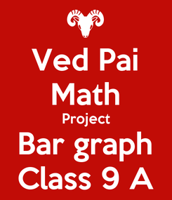 Poster: Ved Pai Math Project Bar graph Class 9 A