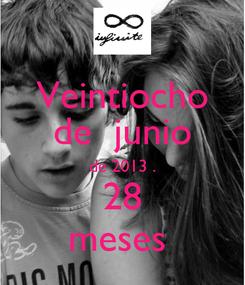 Poster: Veintiocho de  junio de 2013 . 28 meses