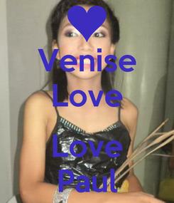 Poster: Venise Love  Love Paul