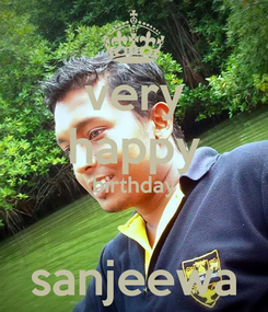Poster: very happy birthday  sanjeewa