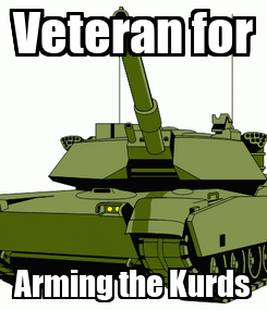 Poster: Veteran for Arming the Kurds
