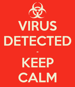 Poster: VIRUS DETECTED - KEEP CALM