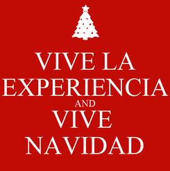 Poster: VIVE LA EXPERIENCIA AND VIVE  NAVIDAD