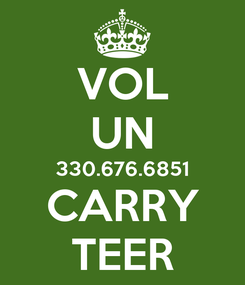 Poster: VOL UN 330.676.6851 CARRY TEER