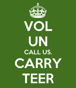 Poster: VOL UN CALL US. CARRY TEER