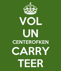 Poster: VOL UN CENTEROFKEN CARRY TEER