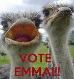 Poster:    VOTE  EMMA!!!