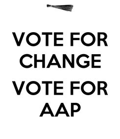 Poster: VOTE FOR CHANGE  VOTE FOR AAP