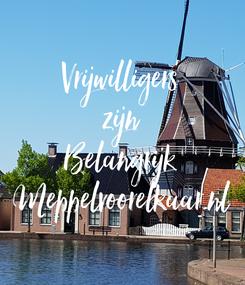 Poster: Vrijwilligers zijn Belangrijk Meppelvoorelkaar.nl