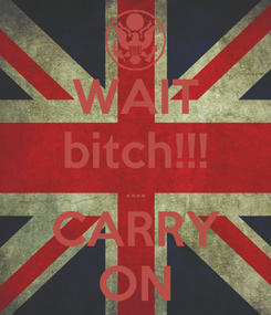 Poster: WAIT bitch!!! .... CARRY ON