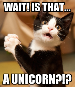 Poster: WAIT! IS THAT... A UNICORN?!?