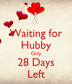 Poster: Waiting for Hubby Only 28 Days Left