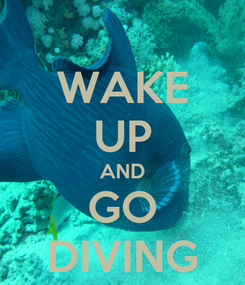 Poster: WAKE UP AND GO DIVING