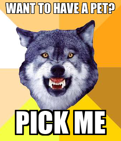 Poster: WANT TO HAVE A PET? PICK ME