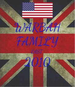 Poster: WARBAH FAMILY EAST 2010
