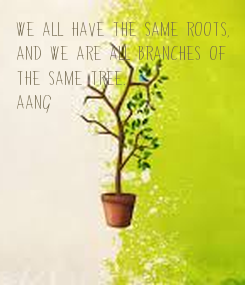 Poster: We all have the same roots, 