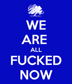 Poster: WE ARE  ALL FUCKED NOW