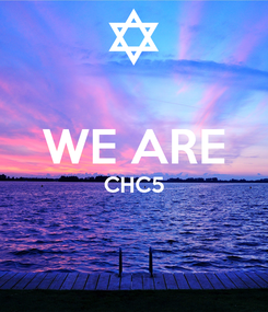 Poster:  WE ARE CHC5