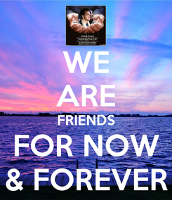 Poster: WE ARE FRIENDS FOR NOW & FOREVER