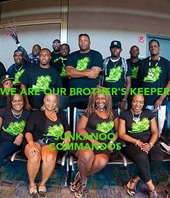 Poster: WE ARE OUR BROTHER'S KEEPER   JUNKANOO COMMANDOS