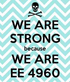 Poster: WE ARE STRONG because WE ARE EE 4960
