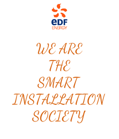 Poster: WE ARE THE SMART INSTALLATION SOCIETY