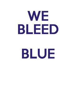 Poster: WE BLEED BLUE