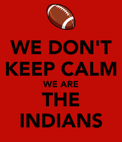 Poster: WE DON'T KEEP CALM WE ARE THE INDIANS