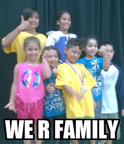 Poster:  WE R FAMILY