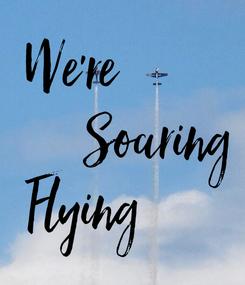 Poster: We're                Soaring  Flying