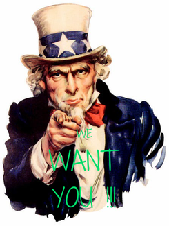 Poster:   WE WANT YOU !!!