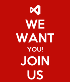 Poster: WE WANT YOU! JOIN US