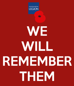 Poster: WE WILL  REMEMBER THEM