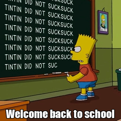 Poster:  Welcome back to school