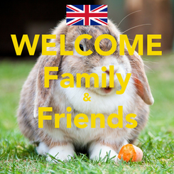 Poster: WELCOME Family & Friends