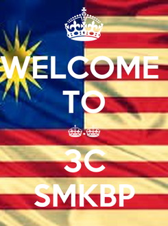 Poster: WELCOME  TO ^.^ 3C SMKBP