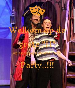 """Poster: Welkom op de grote """"H"""" op zaterdag 6 oktober 2018 Party..!!!"""