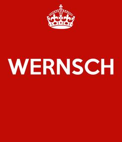 Poster:  WERNSCH