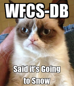 Poster: WFCS-DB Said it's Going to Snow