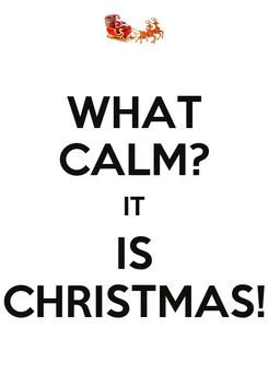 Poster: WHAT CALM? IT IS CHRISTMAS!