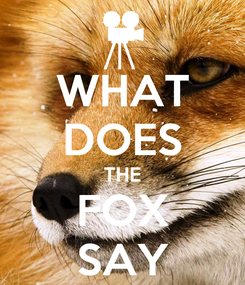 Poster: WHAT DOES THE FOX SAY