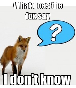 Poster: What does the fox say I don't know