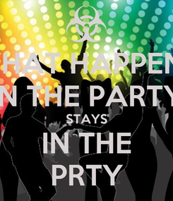 Poster: WHAT HAPPENS IN THE PARTY STAYS IN THE PRTY