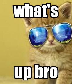 Poster: what's up bro
