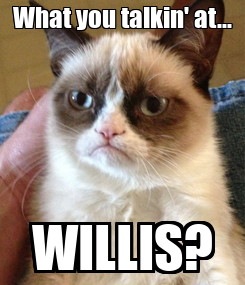 Poster: What you talkin' at... WILLIS?