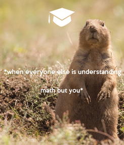 Poster: *when everyone else is understanding   math but you*