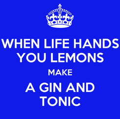 Poster: WHEN LIFE HANDS YOU LEMONS MAKE A GIN AND TONIC